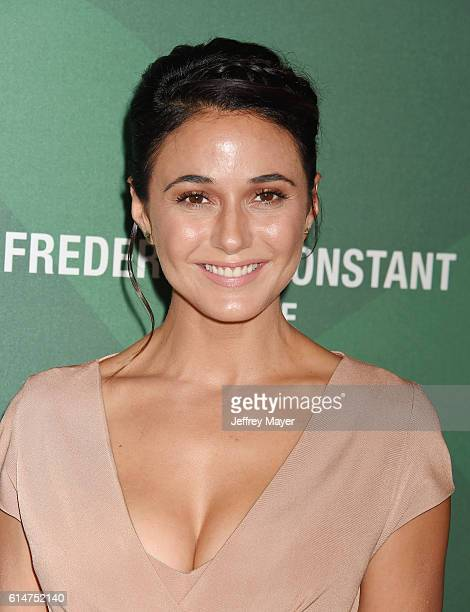 Actress Emmanuelle Chriqui arrives at the Variety's Power Of Women Luncheon 2016 at the Beverly Wilshire Four Seasons Hotel on October 14 2016 in...