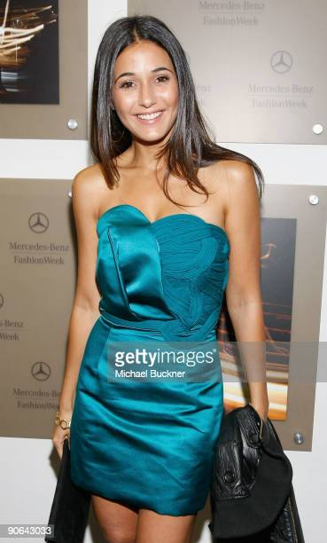Actress Emmanuelle Chriqui attend Fashion Week Spring 2010 presented by MercedesBenz at Bryant Park on September 12 2009 in New York City