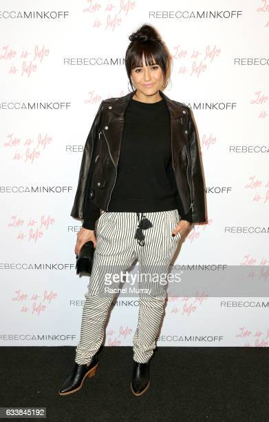 "Actress Emmanuelle Chriqui attended designer Rebecca Minkoff's Spring 2017 ""See Now Buy Now"" Fashion Show at The Grove on February 4 2017 in Los..."