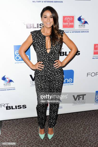 Actress Emmanuelle Chriqui attends a Los Angeles special screening of 'Fort Bliss' at DGA Theater on September 11 2014 in Los Angeles California