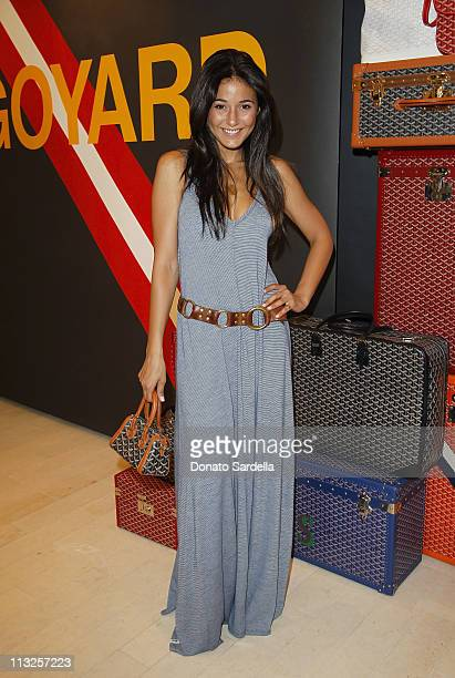 Actress Emmanuelle Chriqui attends Barneys New York And Vogue Lunch To Celebrate Goyard Hosted By Amanda Brooks And Lawren Howell at Barneys New York...