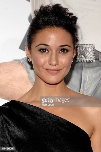 Actress Emmanuelle Chriqui attends Columbia Pictures' screening of You Don't Mess With The Zohan on June 4 2008 at the Ziegfeld Theater in New York...