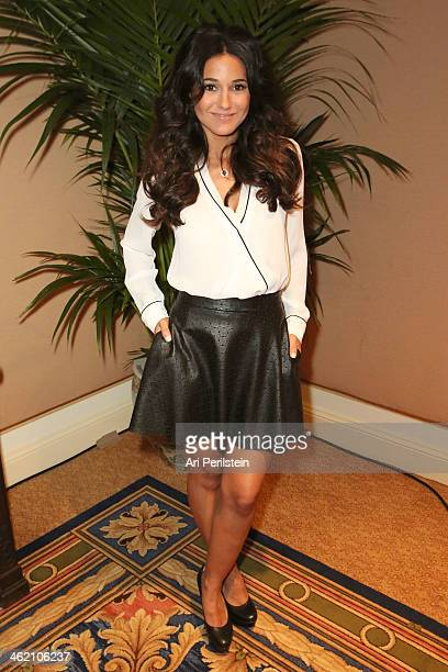 Actress Emmanuelle Chriqui attends Crackle TCA Presentation at The Langham Huntington Hotel and Spa on January 12 2014 in Pasadena California