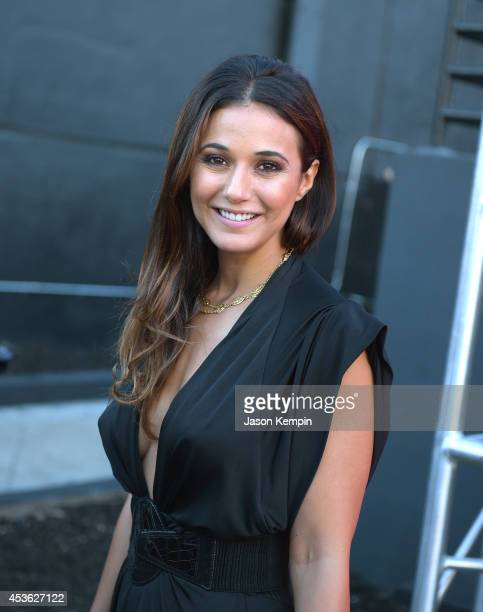 Actress Emmanuelle Chriqui attends Crackle's Summer Premieres Event Celebrating The Launch Of Sequestered And Cleaners Season 2 at 1 OAK on August 14...