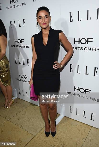 Actress Emmanuelle Chriqui attends ELLE's Annual Women in Television Celebration on January 13 2015 at Sunset Tower in West Hollywood California...