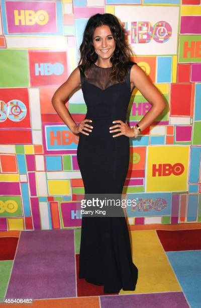 Actress Emmanuelle Chriqui attends HBO's 2014 Emmy after party at The Plaza at the Pacific Design Center on August 25 2014 in Los Angeles California