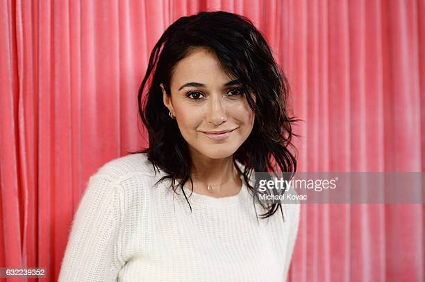 Actress Emmanuelle Chriqui attends Park City Live Presents The Hub Featuring The Marie Claire Studio and the 4K ULTRA HD Showcase Brought to You by...