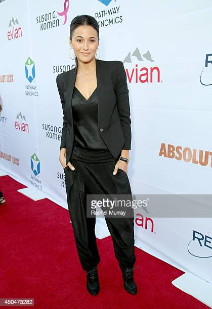 Actress Emmanuelle Chriqui attends PATHWAY TO THE CURE A fundraiser benefiting Susan G Komen presented by Pathway Genomics Relativity Media and evian...