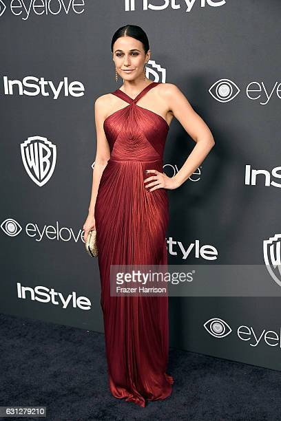 Actress Emmanuelle Chriqui attends the 18th Annual PostGolden Globes Party hosted by Warner Bros Pictures and InStyle at The Beverly Hilton Hotel on...