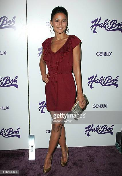 Actress Emmanuelle Chriqui attends the 2008 Hale Bob Summer of Love Party at Falcon on July 9 2008 in Hollywood California