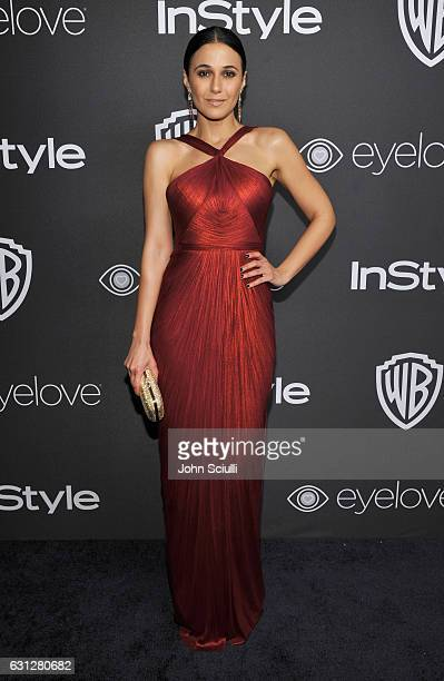 Actress Emmanuelle Chriqui attends The 2017 InStyle and Warner Bros 73rd Annual Golden Globe Awards PostParty at The Beverly Hilton Hotel on January...