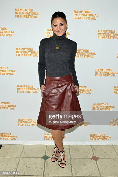 Actress Emmanuelle Chriqui attends the 21st Annual Hamptons International Film Festival on October 12 2013 in East Hampton New York