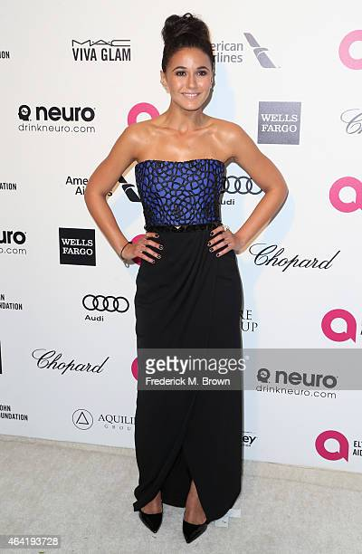 Actress Emmanuelle Chriqui attends the 23rd Annual Elton John AIDS Foundation's Oscar Viewing Party on February 22 2015 in West Hollywood California