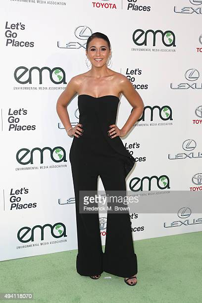 Actress Emmanuelle Chriqui attends the 25th annual EMA Awards presented by Toyota and Lexus and hosted by the Environmental Media Association at...