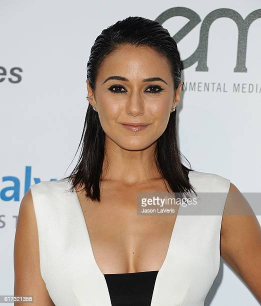 Actress Emmanuelle Chriqui attends the 26th annual EMA Awards at Warner Bros Studios on October 22 2016 in Burbank California