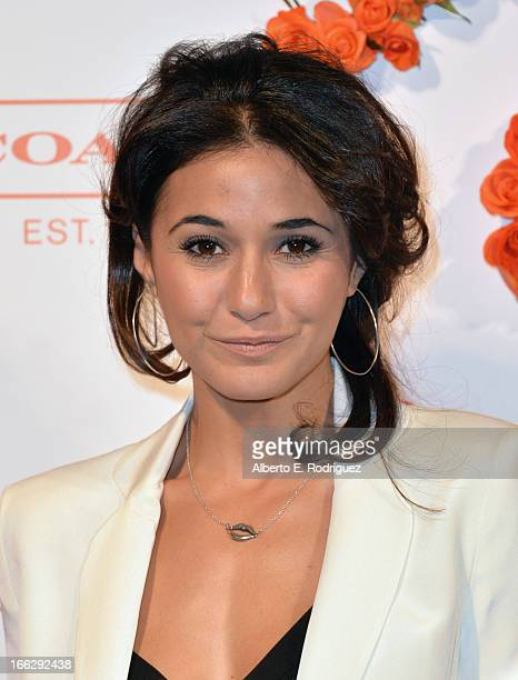 Actress Emmanuelle Chriqui attends the 3rd Annual Coach Evening to benefit Children's Defense Fund at Bad Robot on April 10 2013 in Santa Monica...