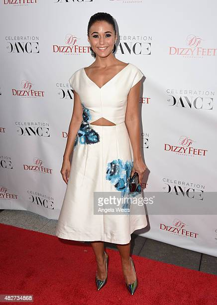 Actress Emmanuelle Chriqui attends the 5th Annual Celebration of Dance Gala presented By The Dizzy Feet Foundation at Club Nokia on August 1 2015 in...