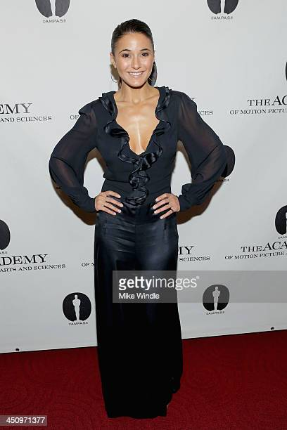 Actress Emmanuelle Chriqui attends The Academy Of Motion Picture Arts And Sciences presents 'Like Magic' at AMPAS Samuel Goldwyn Theater on November...