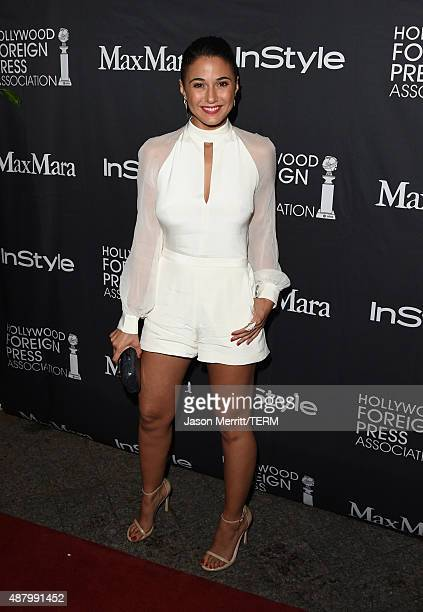 Actress Emmanuelle Chriqui attends the InStyle HFPA party during the 2015 Toronto International Film Festival at the Windsor Arms Hotel on September...