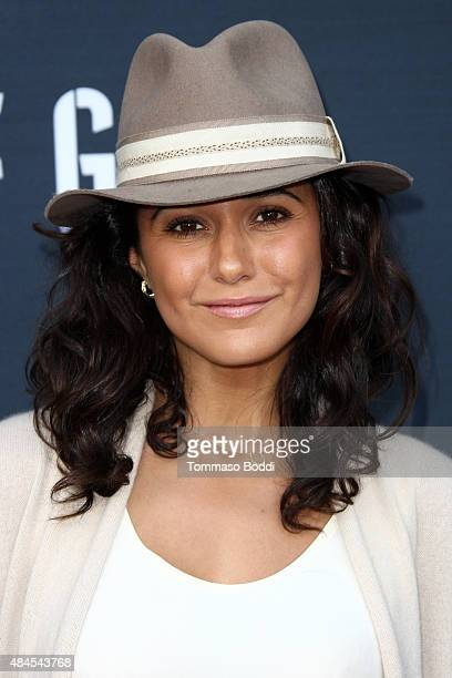Actress Emmanuelle Chriqui attends the premiere of Amazon's series 'Hand Of God' held at the Ace Theater Downtown LA on August 19 2015 in Los Angeles...