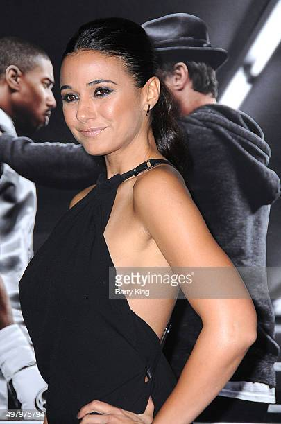 Actress Emmanuelle Chriqui attends the Premiere Of Warner Bros Pictures' 'Creed' at the Regency Village Theatre on November 19 2015 in Westwood...