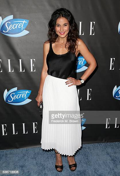 Actress Emmanuelle Chriqui attends the Women In Comedy event with July cover stars Leslie Jones Melissa McCarthy Kate McKinnon and Kristen Wiig...