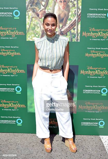 Actress Emmanuelle Chriqui attends the world premiere Of Disney's Monkey Kingdom at Pacific Theatres at The Grove on April 12 2015 in Los Angeles...