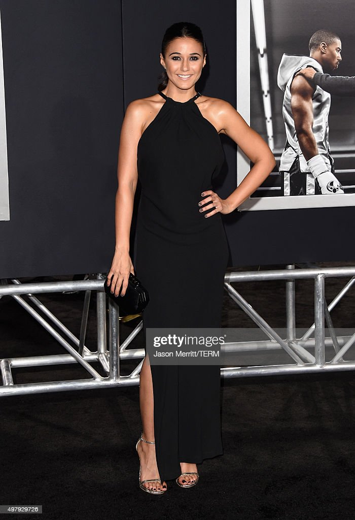 Actress Emmanuelle Chriqui attends Warner Bros. Pictures' 'Creed' Premiere at Regency Village Theatre on November 19, 2015 in Westwood, California.