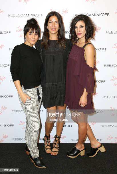 "Actress Emmanuelle Chriqui designer Rebecca Minkoff and Actress Jessica Szohr attended designer Rebecca Minkoff's Spring 2017 ""See Now Buy Now""..."
