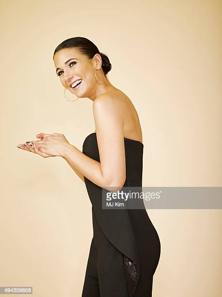 Actress Emmanuelle Chriqui is photographed at the 25th Annual EMA Awards Presented By Toyota And Lexus at Warner Bros Studios on October 24 2015 in...