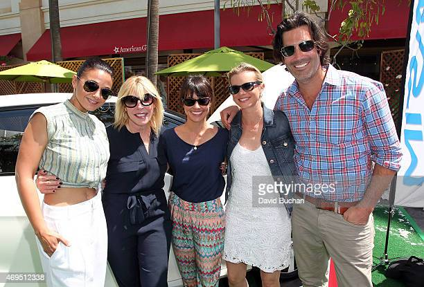 Actress Emmanuelle Chriqui' President of the Environmental Media Association Debbie Levin Constance Zimmer Amy Smart and Carter Oosterhouse attends...