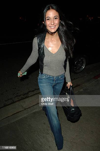 Actress Emmanuelle Chriqui sighting on February 13 2008 in West Hollywood California