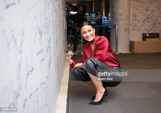 Actress Emmanuelle Chriqui visits Build Series to discuss 'Shut Eye' at AOL HQ on December 8 2016 in New York City