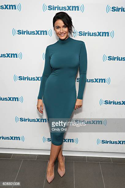 Actress Emmanuelle Chriqui visits the SiriusXM Studio on December 7 2016 in New York City