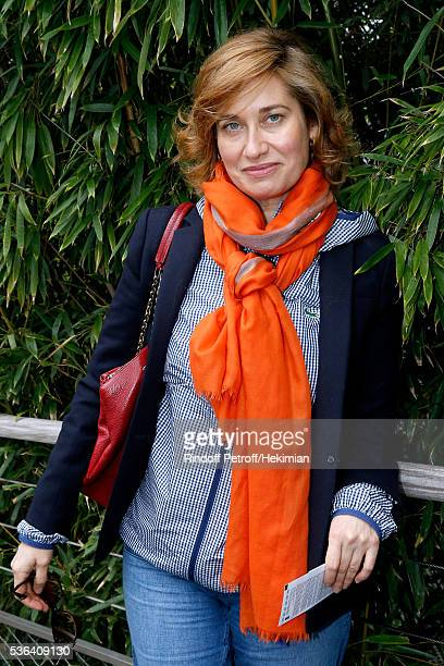 Actress Emmanuelle Devos attends Day Eleven of the 2016 French Tennis Open at Roland Garros on June 1 2016 in Paris France