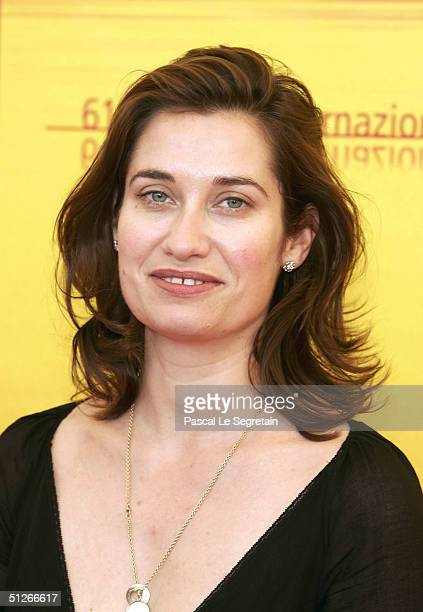 Actress Emmanuelle Devos attends the La Femme De Gilles Photocall at the 61st Venice Film Festival on September 6 2004 in Venice Italy