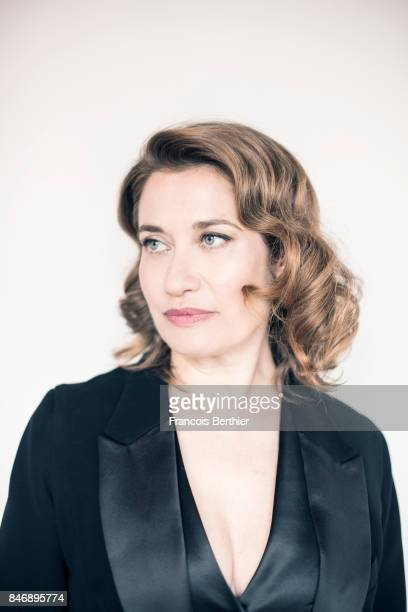 Actress Emmanuelle Devos is photographed on September 9 2017 in Deauville France