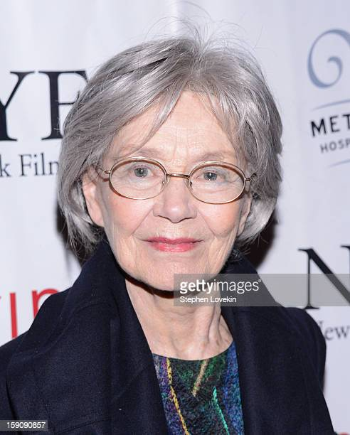Actress Emmanuelle Riva attends the 2012 New York Film Critics Circle Awards at Crimson on January 7 2013 in New York City