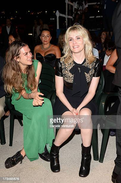Actress Emmanuelle Seigner and Morgane Polanski attend Day 2 of the 2013 Ischia Global Fest on July 14 2013 in Ischia Italy