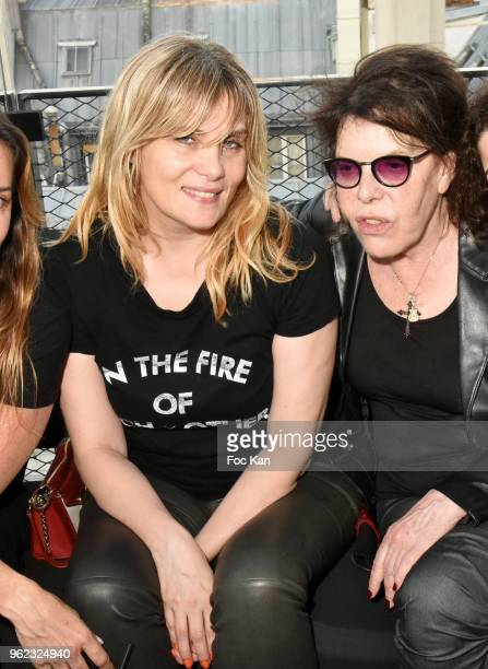 Actress Emmanuelle Seigner and singer Dani attend Tribute To Hubert Boukobza Boss of Les Bains Douches Club during the Nineties At the Montana on May...