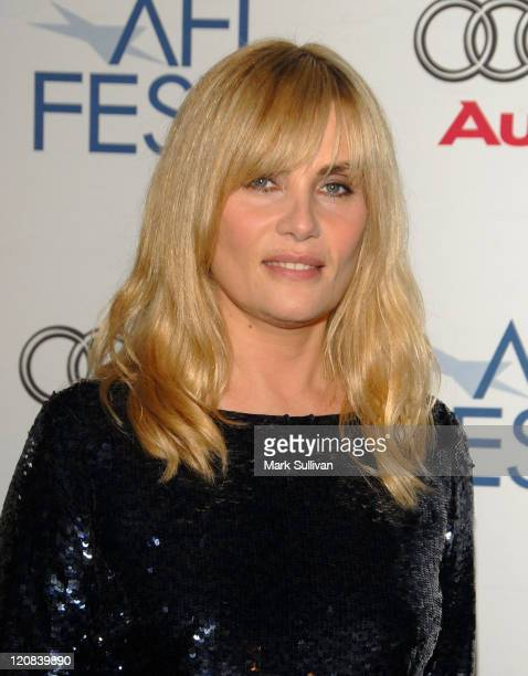 Actress Emmanuelle Seigner arrives at the special screening of 'Diving Bell And The Butterfly' during AFI FEST 2007 held at Arclight Cinemas on...