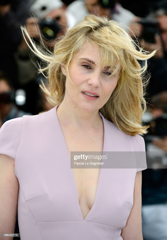 Actress Emmanuelle Seigner attend the 'La Venus A La Fourrure' Photocall during the 66th Annual Cannes Film Festival on May 25, 2013 in Cannes, France.