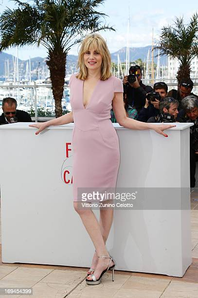 Actress Emmanuelle Seigner attend the 'La Venus A La Fourrure' Photocall during the 66th Annual Cannes Film Festival on May 25 2013 in Cannes France