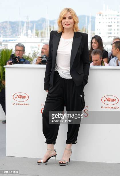 Actress Emmanuelle Seigner attends the Based On A True Story photocall during the 70th annual Cannes Film Festival at Palais des Festivals on May 27...