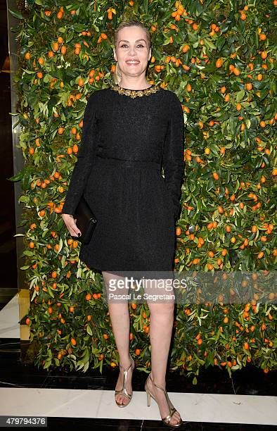 Actress Emmanuelle Seigner attends the Tory Burch Paris Flagship store opening on July 7 2015 in Paris France