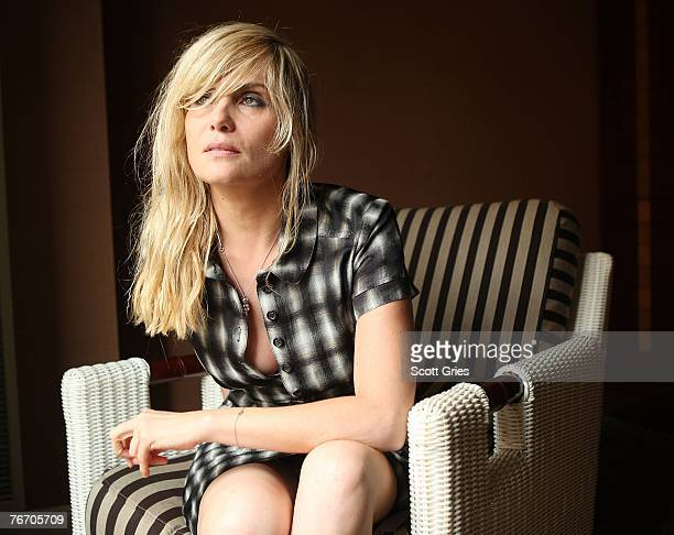 """Actress Emmanuelle Seigner from the film """"The Diving Bell And The Butterfly"""" poses for a portrait in the Chanel Celebrity Suite at the Four Season..."""