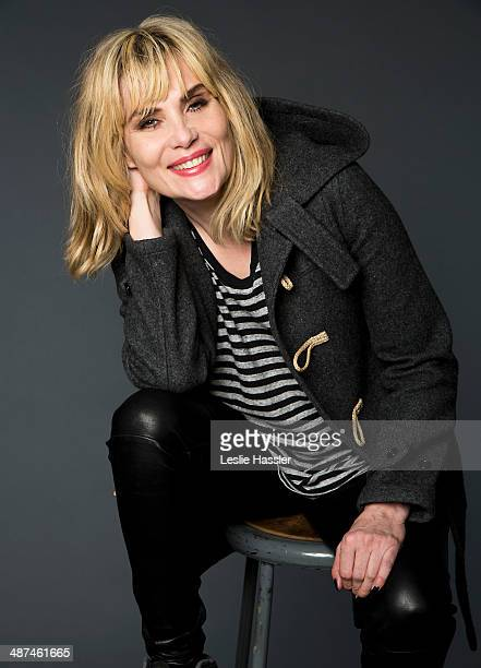 Actress Emmanuelle Seigner is photographed at the Tribeca Film Festival on April 23 2014 in New York City