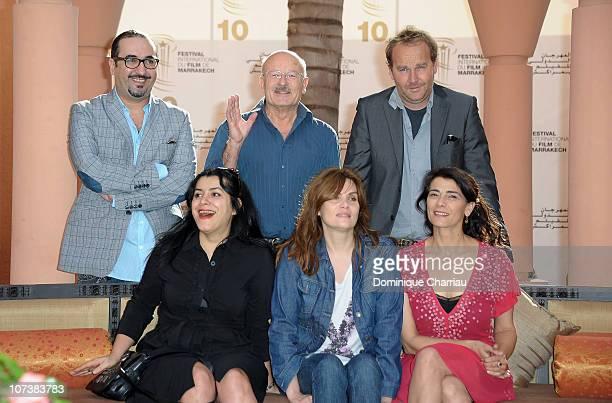 Actress Emmanuelle Seigner Marjane Satrapi Hiam Abbas Adil Fadili Volker Schloendorff and Xavier Beauvois pose for the Short Film Jury Photocall...