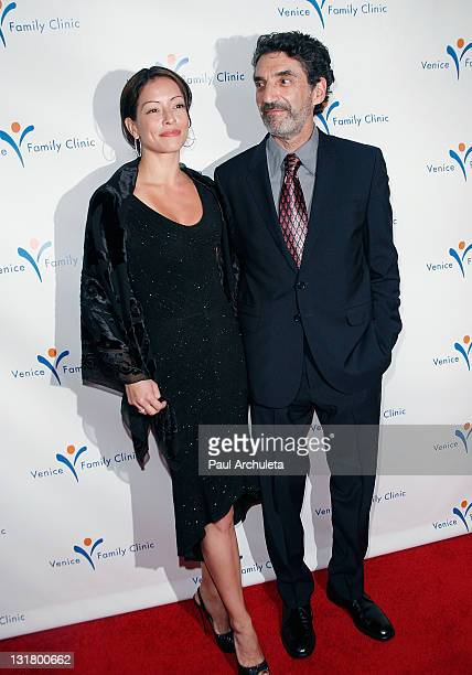 Actress Emmanuelle Vaugier and Writer / Producer Chuck Lorre arrive at the Venice Family Clinic's 2011 Silver Circle Gala at the Beverly Wilshire...