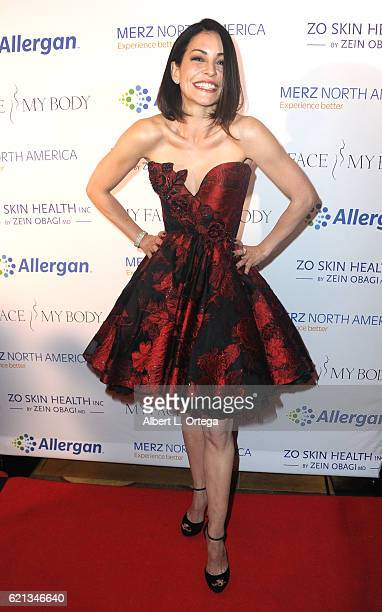 Actress Emmanuelle Vaugier arrives for MyFaceMyBody Awards held at Montage Beverly Hills on November 5 2016 in Beverly Hills California